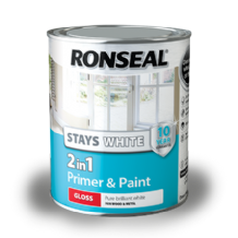 Ronseal stays white 2in1 primer & paint from